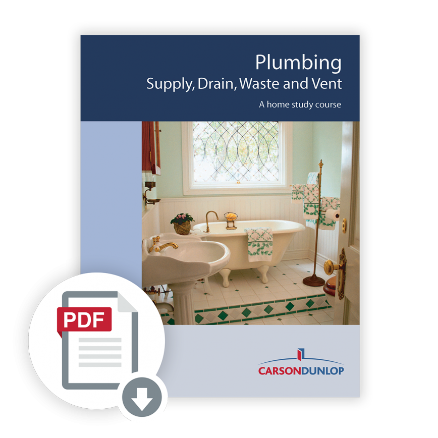 Plumbing - Supply, Drain, Waste and Vent course